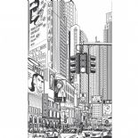 Trendy Panels B & W Comics Wallpanel TDP 6135 00 08 or TDP61350008 By Caselio